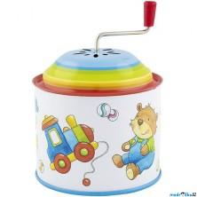 Muzikální hrací skříňka - Plechová, Hračky (Goki)
