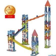 Kuličková dráha - Dřevěná rytířský hrad, 79 dílů (Goki)