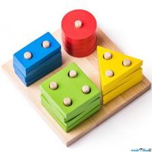 Skládačka - Základní tvary na desce (Woody)