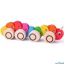 Tahací hračka - Stonožka barevná (Woody)