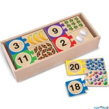 Puzzle výukové - Číslovky s počty, 40ks (M&D)