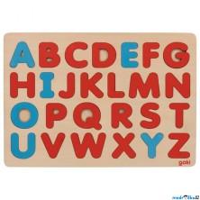 Puzzle výukové - Abeceda na desce, Montessori styl (Goki)