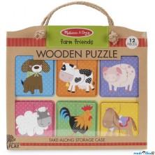Puzzle pro nejmenší - Na desce, Farma na cestu, 12ks (M&D)