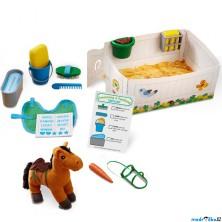 Plyšová hračka - Set péče o koně (M&D)