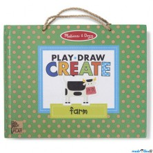 Kreativní sada - Mazací tabule s magnety, Farma (M&D)