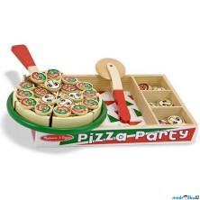 Krájení - Pizza dřevěná s tácem a podnosem (M&D)