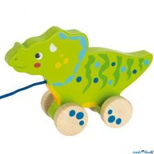 Tahací hračka - Dinosaurus zelený dřevěný (Goki)