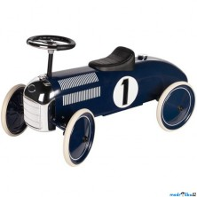 Odrážedlo kovové - Historické auto, modré tmavě (Goki)