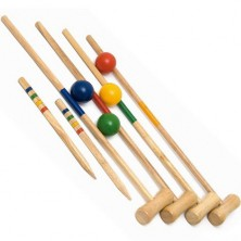 Kroket - Zahradní dřevěný pro 4 hráče (Woody)