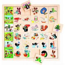 Puzzle výukové - Co kam patří, Krtek, 36ks (Bino)