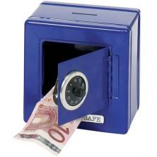 Pokladnička plechová - Trezor modrý (Goki)
