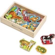 Magnetky - Zvířátka dřevěné, 20ks (M&D)