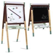 Kreslící tabule - Výškově nastavitelná hnědá, 91 až 126cm (Janod)