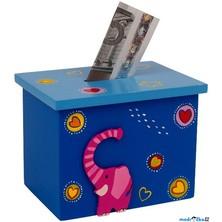 Pokladnička - Box modrý se slonem (Legler)