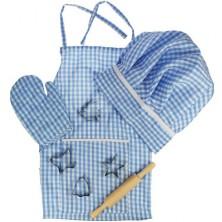 Kuchyň - Kuchařské oblečení, Modrý set (Bigjigs)