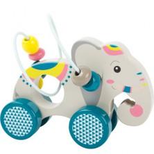 Zvířátko na kolečkách - Drátěný labyrint slon (Legler)