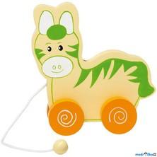 Tahací hračka - Oslík s oranžovými koly (Legler)