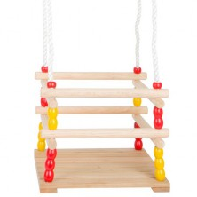 Houpačka - Dřevěná s ohrádkou (Legler)