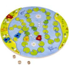 Společenská hra - Raz, dva, kvak dřevěná (Goki)