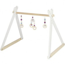 Hrazdička - Dřevěná hrazda nastavitelná, Trendline růžová (Heimess)