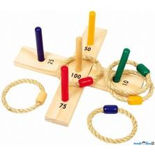 Hra s kroužky - Házení kroužků na kříž (Legler)