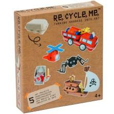 Kreativní sada - Re-cycle me, Pro kluky, Stojan na vejce