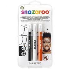 Snazaroo - Štětce s barvou, Halloween, 3 barvy