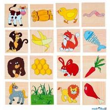 Puzzle výukové - Hladová zvířátka, 24ks (Woody)