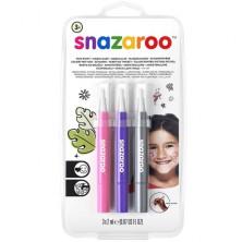 Snazaroo - Štětce s barvou, Fantazie, 3 barvy