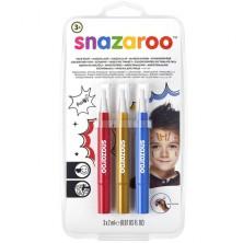 Snazaroo - Štětce s barvou, Dobrodružství, 3 barvy