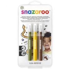 Snazaroo - Štětce s barvou, Džungle, 3 barvy