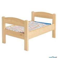 Postýlka pro panenky - Přírodní s peřinkami DUKTIG (Ikea)
