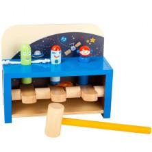 Zatloukačka - Rakety vyskakovací Space dřevěná (Legler)