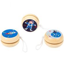 Drobné hračky - Jojo dřevěné, Space, 1ks (Legler)