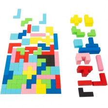 Mozaika - Dřevěný Tetris, 114 dílků (Legler)