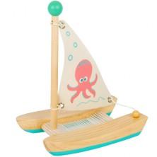 Loď dřevěná - Katamarán chobotnice (Legler)