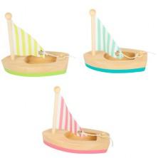 Loď dřevěná - Plachetnice menší, 3ks (Legler)