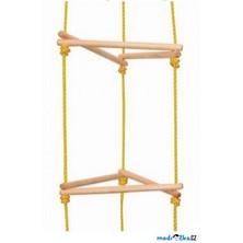 Provazový žebřík - Věž, trojúhelníkové příčky (Woody)