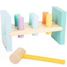 Zatloukačka - Dřevěná v pastelových barvách (Legler)