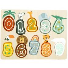 Puzzle výukové - Čísla na desce Safari (Legler)