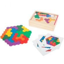 Mozaika - Dřevěná logická hra hexagony (Legler)
