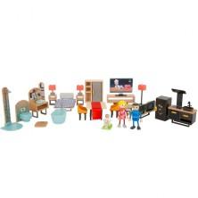 Nábytek pro panenky - Sada luxusního nábytku s panenkami (Legler)