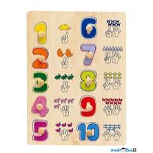 Puzzle výukové - Počítání na rukách (Woto)
