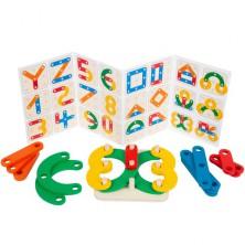 Skládačka - Logická hra Písmena a čísla (Legler)