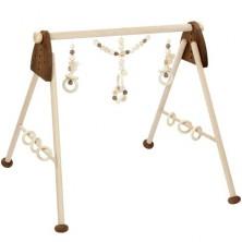 Hrazdička - Dřevěná hrazda nastavitelná, Přírodní (Heimess)