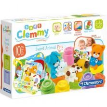 Clementoni - Clemmy, Kostičky s knížkou domácí zvířata