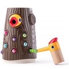 Motorická hra - Datel magnetické krmení (Woody)