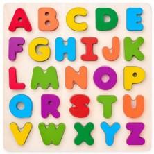 Puzzle výukové - Abeceda na desce, čtverec (Woody)