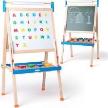 Kreslící tabule - Výškově nastavitelná s písmeny, 111 až 129cm (Woody)