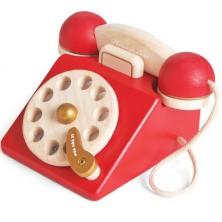 Telefon dětský - Dřevěný retro vintage (Le Toy Van)